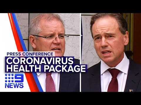 Coronavirus: PM And Health Minister Announce Billion Dollar Support | Nine News Australia