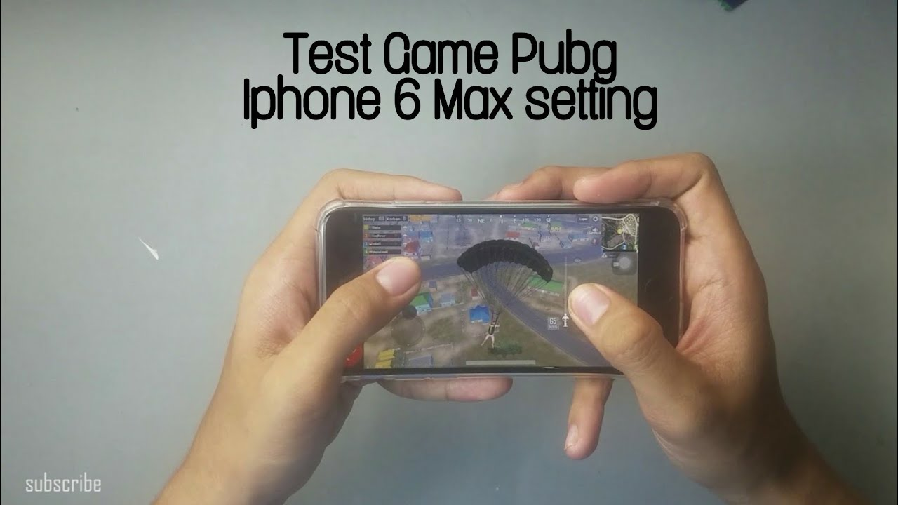 Test Game PUBG Mobile on Iphone 6 2019 Indonesia