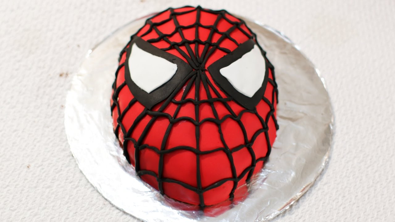 Spiderman cake tutorial how to make a spider man cake for Spiderman template for cake