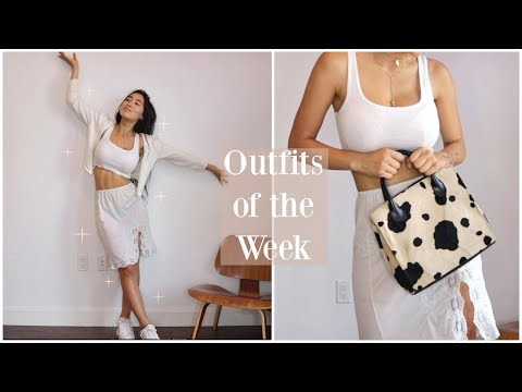 Thrifted Outfits of the Week | Retro, Lingerie, Monochromatic |
