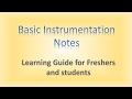 INSTRUMENTATION BASIC NOTES
