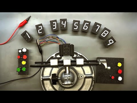 Electromechanical 7 Segment Displays and Flip Dot Indicators