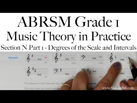 ABRSM Grade 1 Music Theory Section N Part 1 Degrees of the Scale and Intervals with Sharon Bill