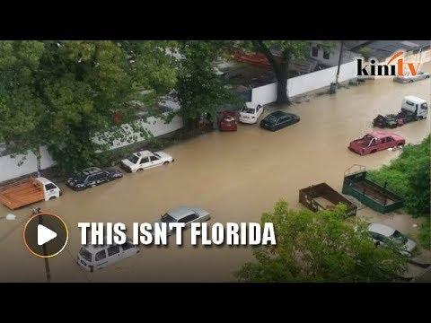 Early morning flash floods hit Penang