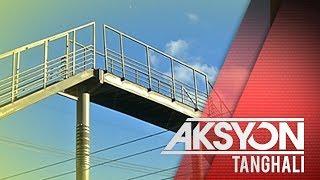 Sinasabing delikadong footbridge, viral sa social media