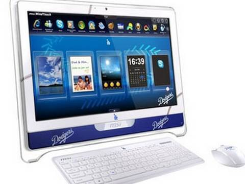Msi Wind Top Ae2220 All In One Touch Screen Pc Dodgers Edition Review