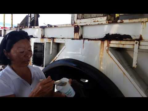 Removing Rust Stains from Fleet Vehicle