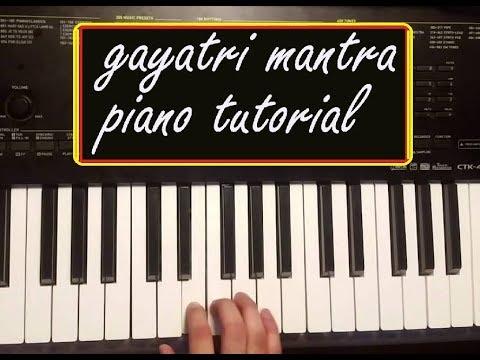 Gayatri Mantra Piano Notes - Om bhur bhuva swaha sargam