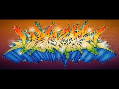 Wacom Cintiq Graffiti Speed Painting in Photoshop by SPEAK-2