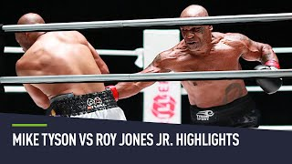 Mike Tyson vs Roy Jones Jr. exhibition highlights