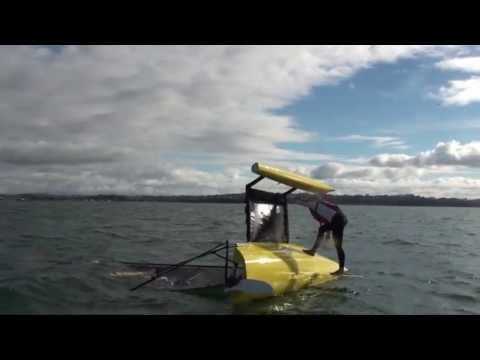 How to right a Weta Trimaran after Capsize