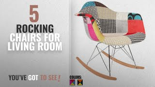 Top 10 Rocking Chairs For Living Room [2018]: 2xhome - Single (1) - Multi-color – Modern