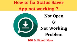 How to Fix Status Saver Not Working Problem Android & Ios - Not Open Problem Solved   AllTechapple screenshot 5