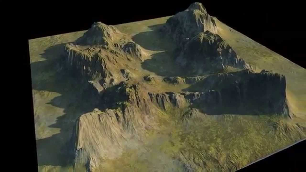 maya 3d mountain 150709 - youtube