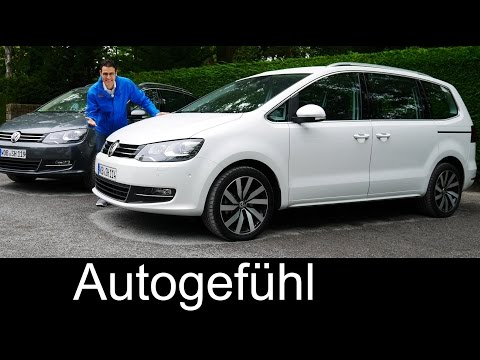 New Volkswagen VW Sharan Facelift FULL REVIEW test driven 2016 Highline TDI 150 & 184 hp comparison