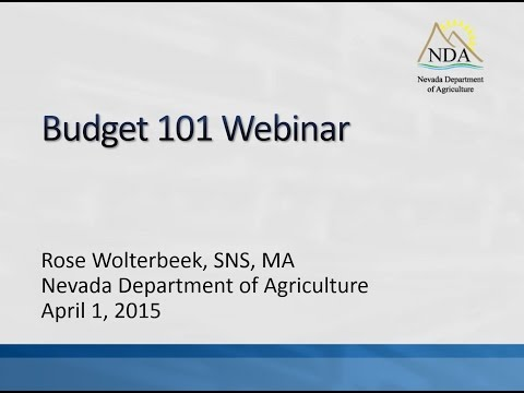 School Food Service Budgeting Basics and Direct Certification Reporting Webinar