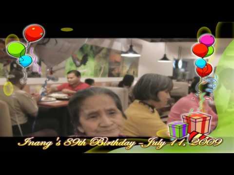 Inang Aurea - 89th Birthday - July 11, 2009 - MAX
