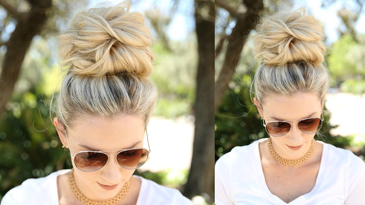 How to make a low bun without bobby pins