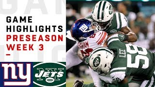 Giants vs. Jets Highlights | NFL 2018 Preseason Week 3
