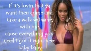 rihanna if it s lovin that you want with lyrics