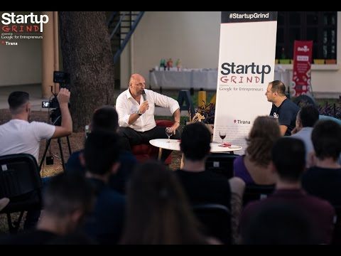 Julien Coustaury (Fil Rouge Capital) at Startup Grind Tirana