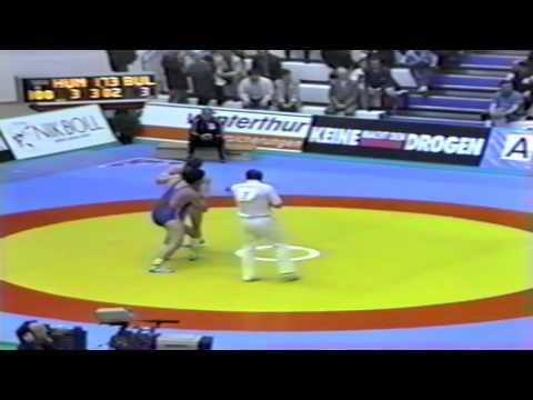 1991 Senior European Greco Championships: 100 kg Sandor Major (HUN) vs. Julian Vasilev (BUL)