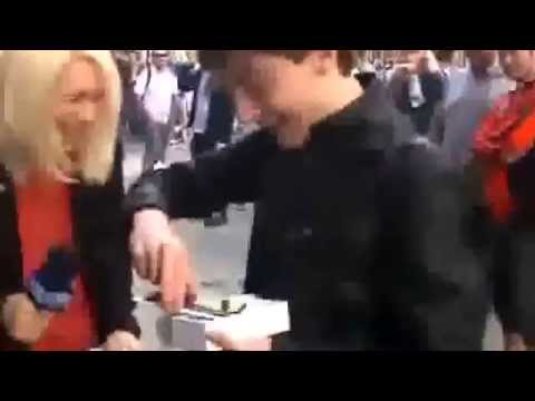 First Iphone 6 buyer Drops it!