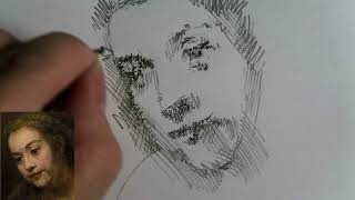 Drawing after Rembrandt - How to draw a face