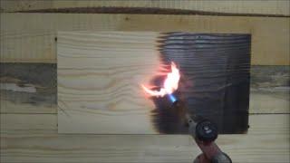 обжиг, браширование и пропитка маслом сосновой доски wood  aging(Один из способов декоративной обработки древесины - обжиг с последующим брашированием. Для подчеркивания..., 2015-01-14T06:15:39.000Z)