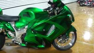 "2011 Suzuki Hayabusa ""crisp"" Is Built By Garwood Custom Cycles & Features C&s Single Sided Swing Arm"