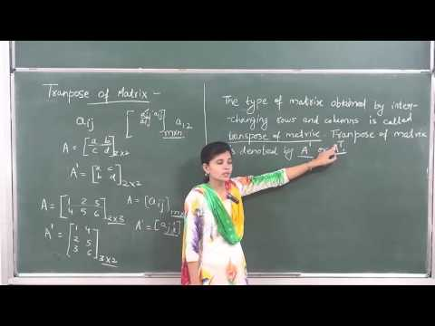 MATHS-XII-3-06 Transpose of matrix(2016) by Swati Mishra, Pradeep Kshetrapal channel