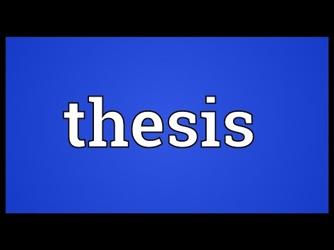 Thesis Meaning