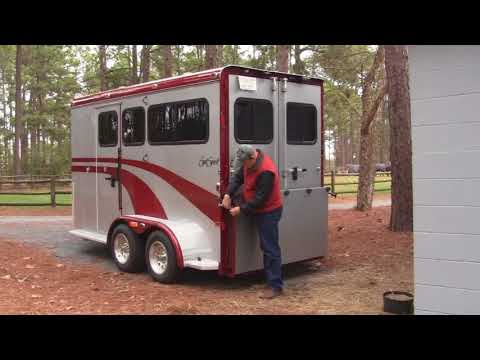 EquiSpirit 2 Horse Bumper Pull Trailer With Dressing Room - Part 1