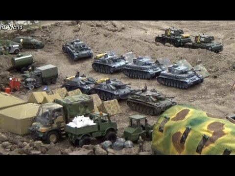 RC Tanks Panzer In Action WW2 ♦ Tiger Leopard ♦ Erlebniswelt Modellbau Erfurt 2015 Modellbaumesse