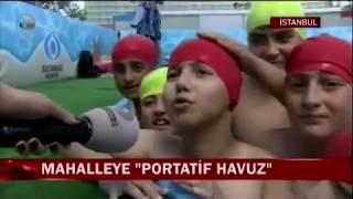 Kanal D- Sultangazi Belediyesi Portatif yüzme havuzu