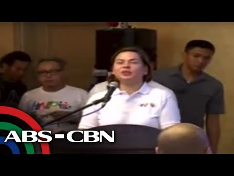 TV Patrol: Sara Duterte at House Speaker Alvarez, nagharap at nagkamayan