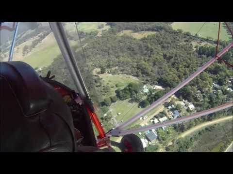 The Flying Frog, Thruster ultralight, Rotax engines, Dunalley Tasmania