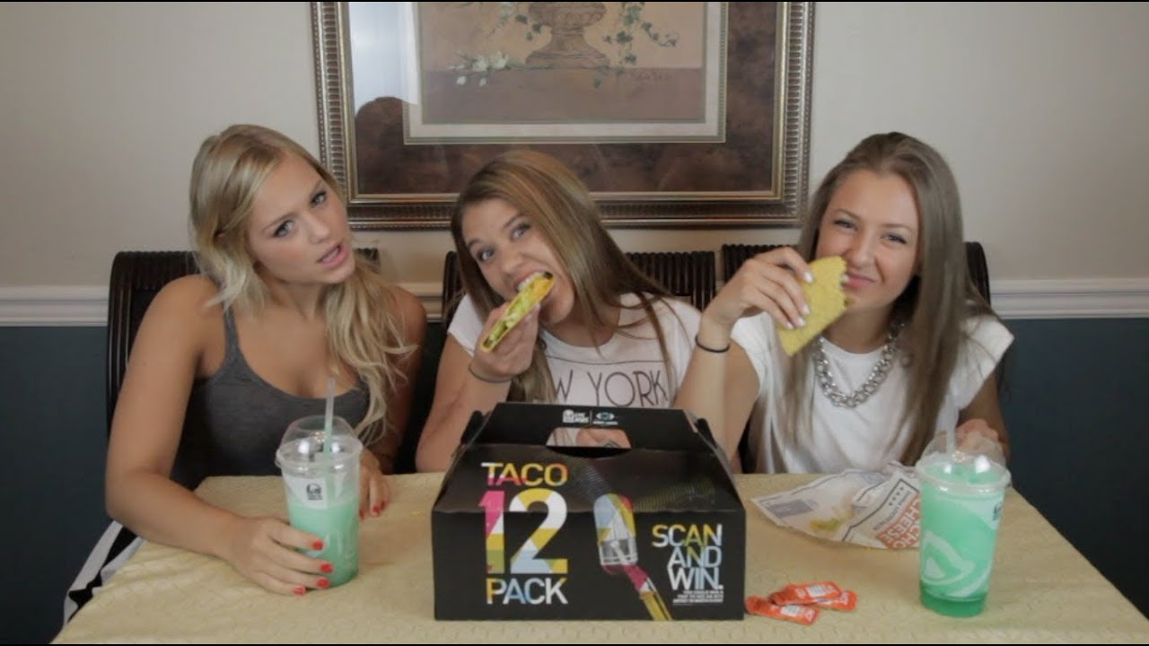 girls do the taco bell challenge youtube