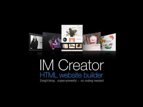 Create a FREE high quality website with imcreator.com