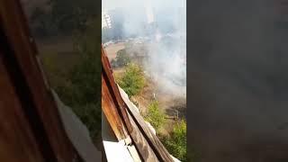 Пожар на придворовой территории Новотроицк