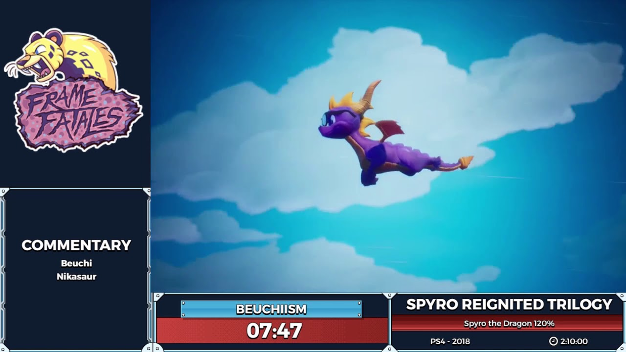 Spyro Reignited Trilogy Spyro the Dragon 120% by Beuchiism in 1:57:23