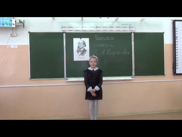 Изображение предпросмотра прочтения – ДарьяПолянских читает произведение «Снежок» Н.А.Некрасова