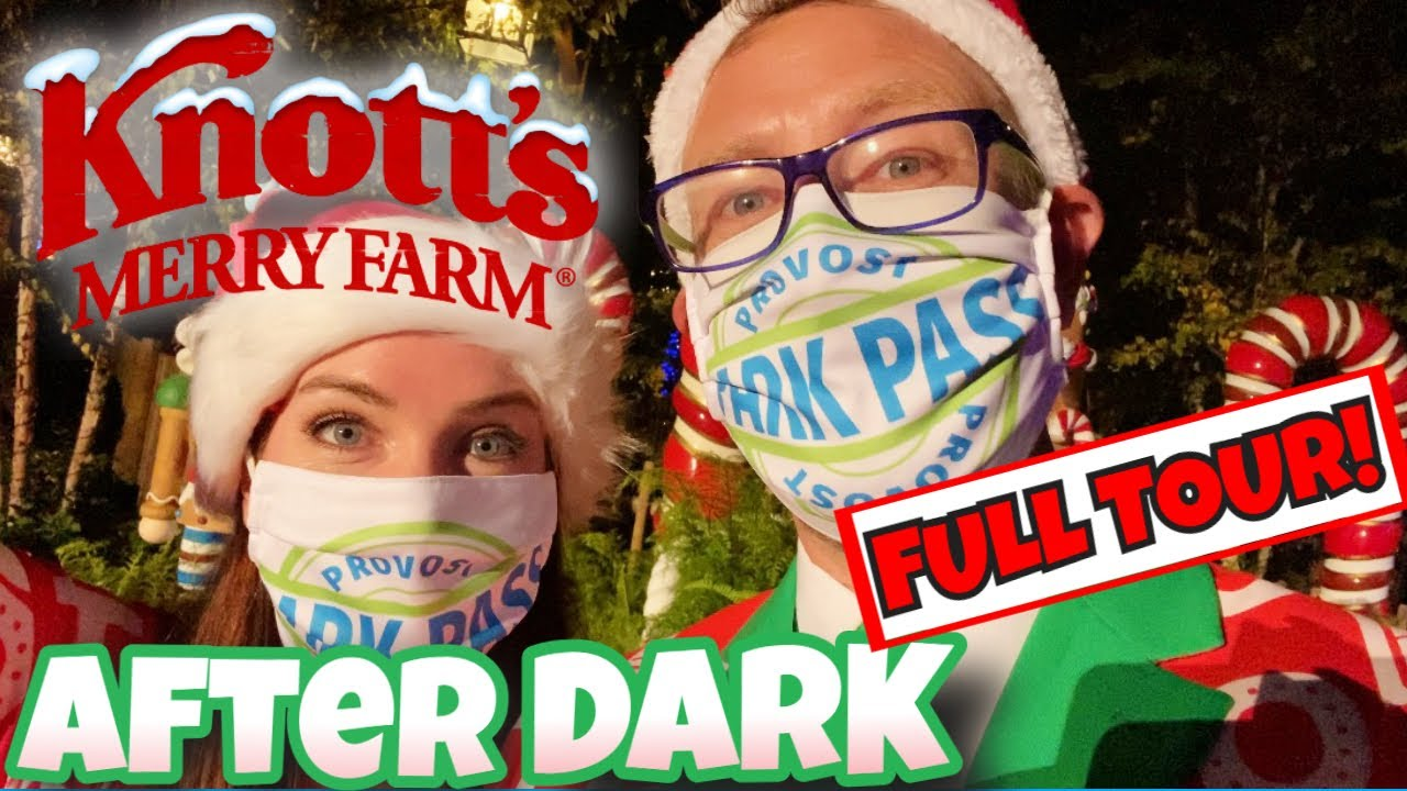 Experiencing Knott's Merry Farm After Dark FULL TOUR Of Holiday Lights