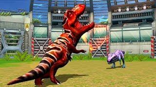 Tyrannosaurus VS Rajasaurus - Jurassic Park Builder JURASSIC Tournament Android Gameplay HD