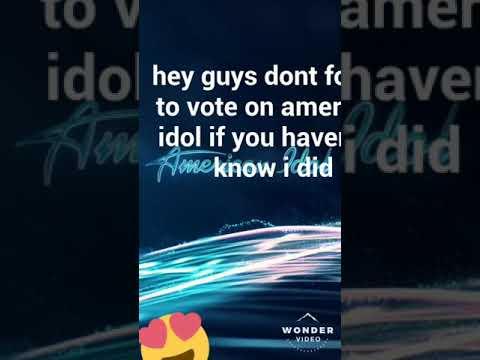 American Idol Voting Tutorial