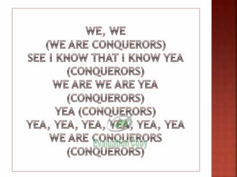 Kirk Franklin- Conquerors lyrics