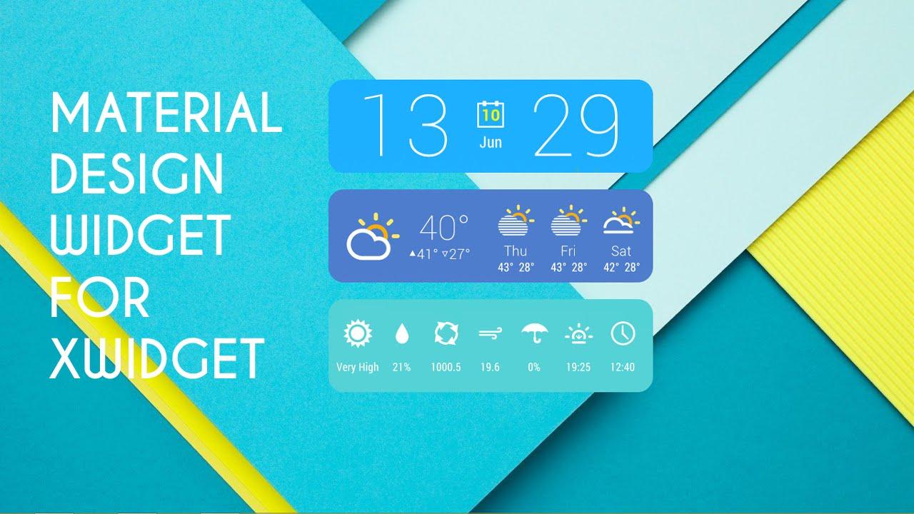 Material Design Widget for Windows 7/8/8 1/10