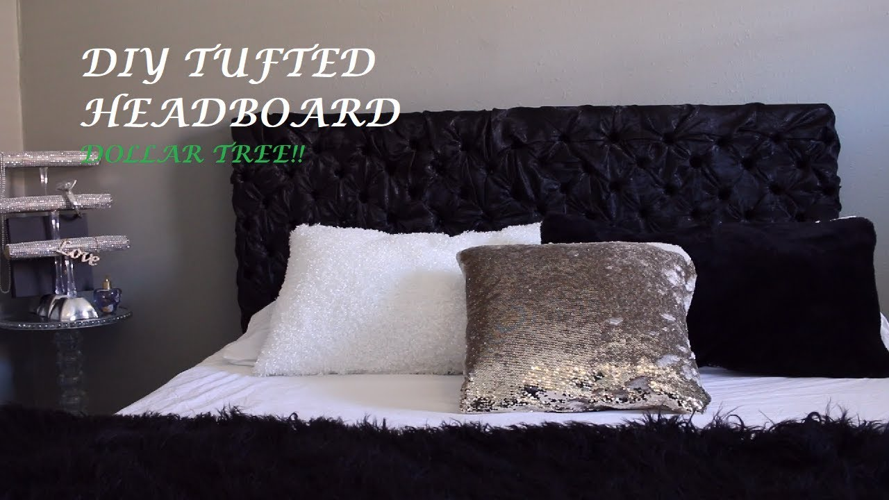 Easy Tufted Headboard Diy Dollar Tree Youtube