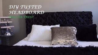 Easy Tufted Headboard DIY! Dollar Tree!!