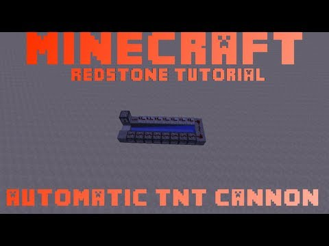 minecraft how to make a automatic tnt cannon